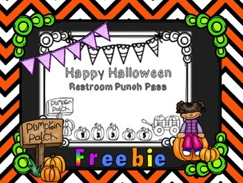 Halloween Restroom Punch Pass ~ FREEBIE