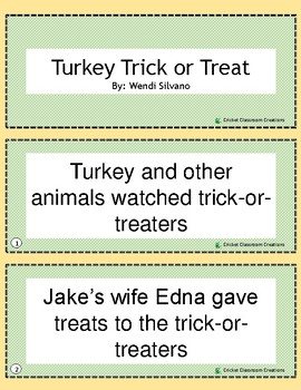 Halloween Retell/Sequence: Turkey Trick or Treat