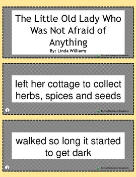 Halloween Retell/Sequence: The Little Old Lady Who Was Not Afraid of Anything