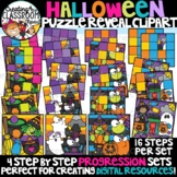 Halloween Reveal Puzzles Clipart {Digital Puzzles Clipart}
