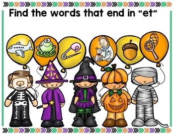Halloween Review Phonics Game