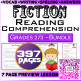 Fiction Reading Comprehension Passages & Questions Bundle   Grade 2-3