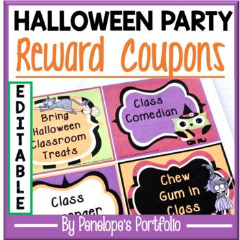 Halloween Reward Coupons