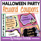 Halloween Treats / Halloween Party Reward Coupons for the Classroom