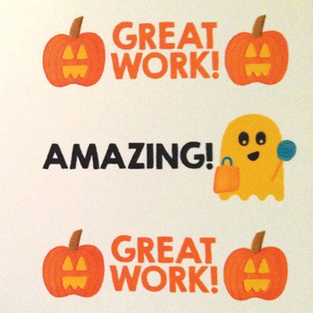Halloween Stickers - Great work! Well done!