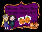 Halloween Rhyme-Time Match Pumpkin Word Cards-Short/Long Vowels/End Blends