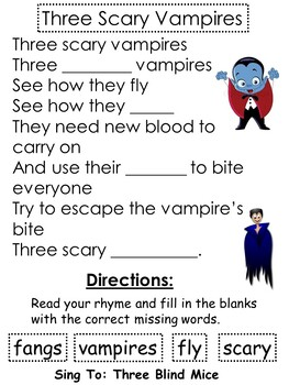 Halloween Rhymes, Poems and Activities For Primary