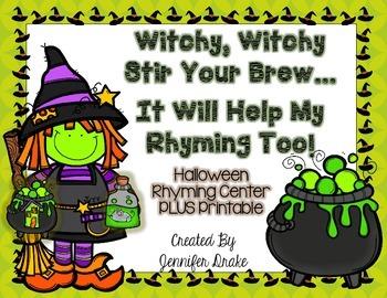 Halloween Rhyming Center and Printable
