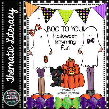 Halloween Rhyming Fun--Boo To You!  Literacy Center Activity Pack