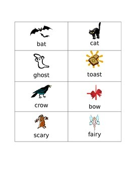 Halloween Rhyming Game