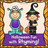 Halloween Rhyming Worksheets (Kindergarten, Halloween Activities)