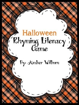 Halloween Rhyming Literacy Game