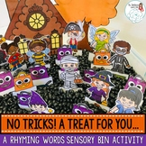 Halloween Rhyming Words: A Sensory Bin Activity