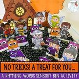 Halloween Rhyming Words: A Sensory Bin Activity