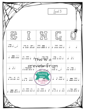 Halloween Rhythm Bingo - Three Level Bundle!