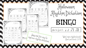 Halloween Rhythm Bingo - Level 2