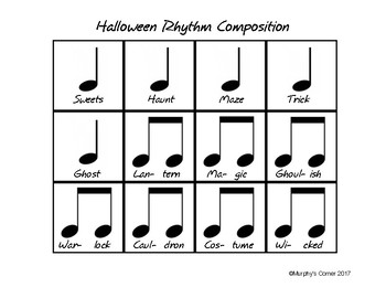 Halloween Rhythm Composition
