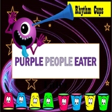 """Halloween Rhythm Cup Play Along with """"The Purple Eater"""""""