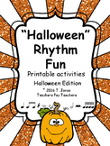 Music Worksheets: Halloween Rhythm Fun