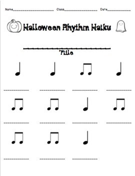 Halloween Haiku Rhythm Activity