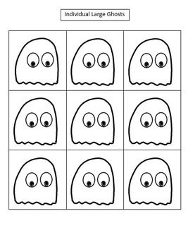 Halloween Rhythm Manipulatives - Black and White