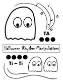 Halloween Rhythm Manipulatives - Black and White
