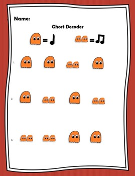 Halloween Rhythm Manipulatives - Deluxe Color Edition!