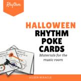 Halloween Rhythm Poke Cards