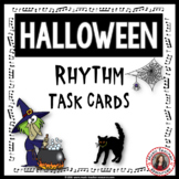 Halloween Music Activities: Halloween Music Rhythm Task Cards