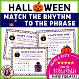 Halloween Music Activities: Halloween Music Rhythm Task Cards