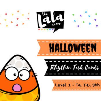 Halloween Rhythm Task Cards - Level One