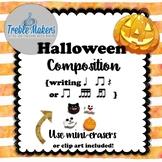 Halloween Rhythmic Composition {writing ta, titi, rest, tika tika}