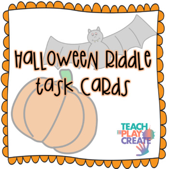 Halloween Riddle Task Cards