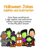 Halloween Riddles- 2 digit addition without regrouping