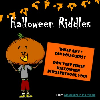Halloween Riddles by Classroom in the Middle | Teachers Pay Teachers