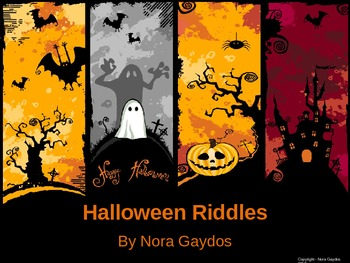 Halloween Riddles - PowerPoint