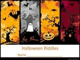 Halloween Riddles - Printable