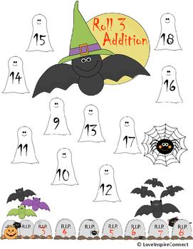 Halloween Roll 3 Addition Bump Game