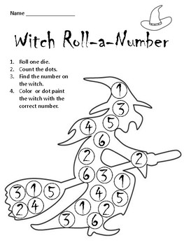 Halloween Roll-A-Number