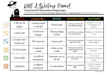 Halloween Roll-A Writing Prompts [2nd Ed]