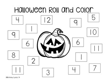 Halloween Roll & Color