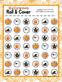 Halloween Roll & Cover Math Game FREEBIE