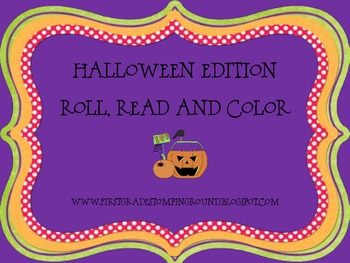 Halloween Roll, Read and Color