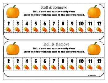 Halloween Roll & Remove Center Game