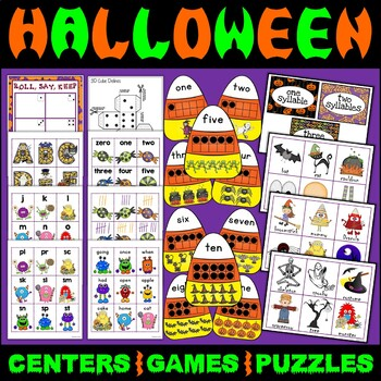 Halloween Games Centers Roll Say Keep