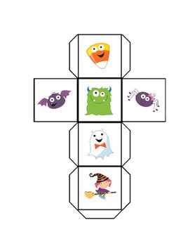 Halloween Roll Tally Graph Math Activity Set