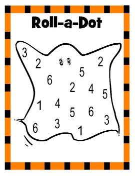 Halloween Roll a Dot Game