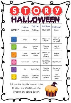 Halloween Roll a Story
