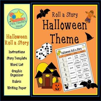 Halloween Roll a Story - Story Prompts, Graphic Organizers