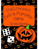 Halloween Roll-A-Pumpkin dice game